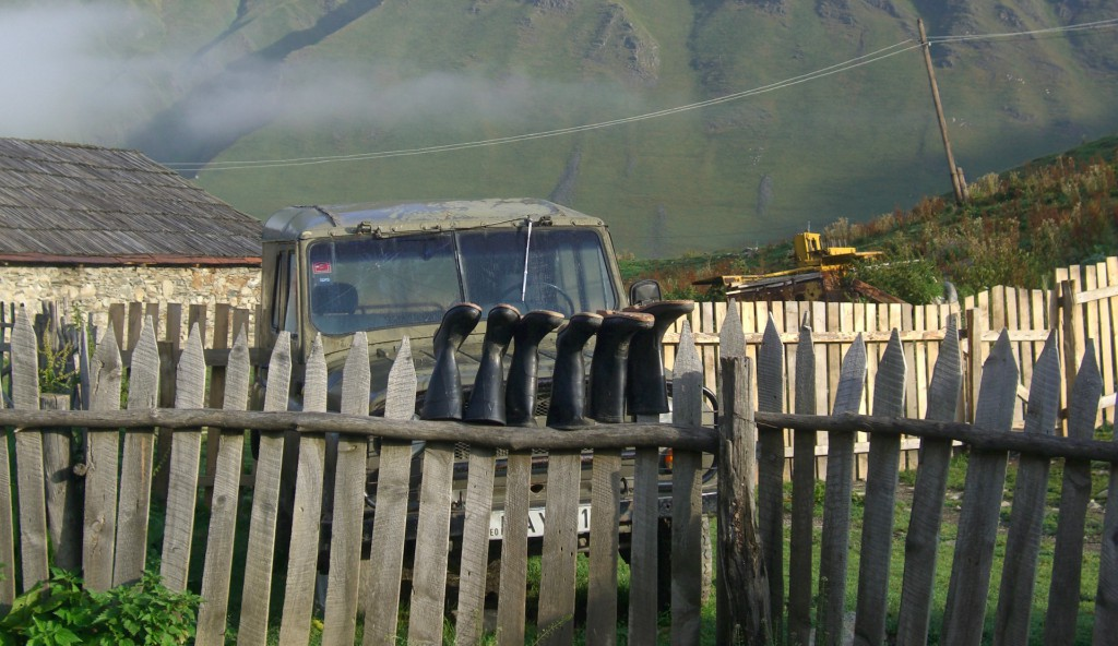 Ушгули дом с забором