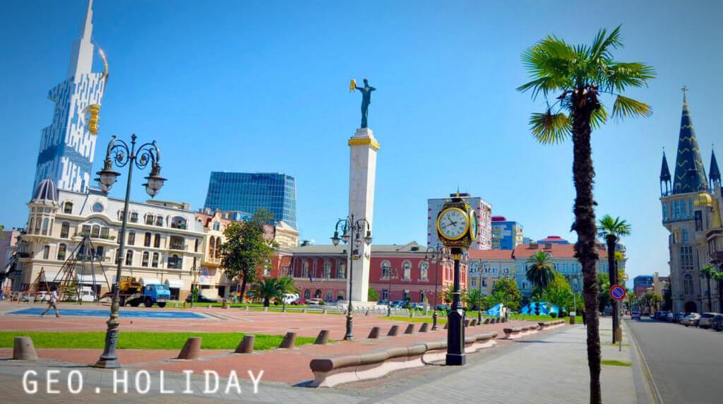 Площадь Европы в Батуми Медея, Europe Square in Batumi Medea