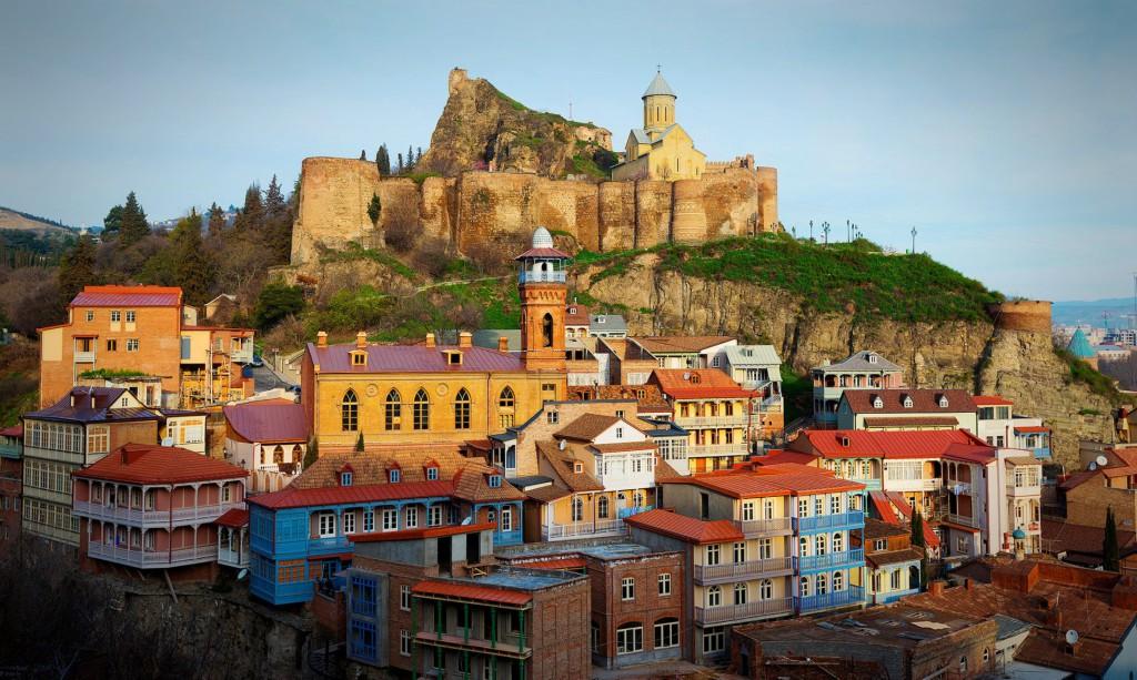 Вид на Тбилиси (Нарикала) и старый город