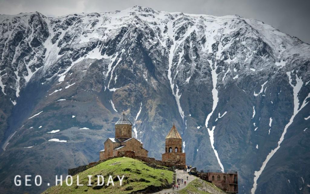 гора Казбек, церковь Гергети