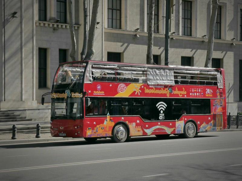 Сити тур автобус на ул. Руставели