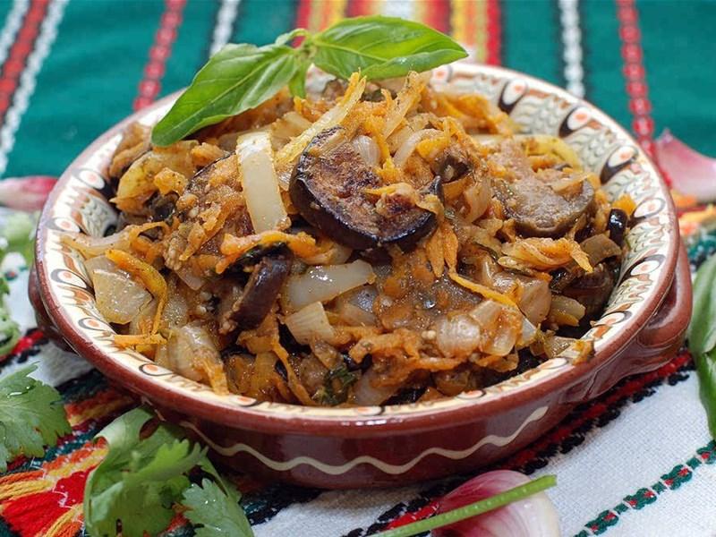 Грузинская кухня, блюдо - Аджапсандал