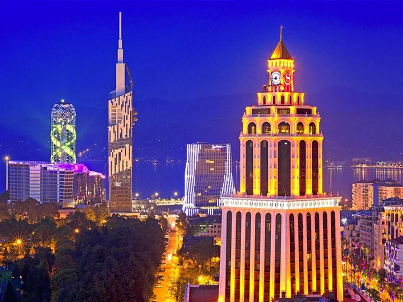 картинка города Грузии - Батуми, image of Georgian city- Batumi