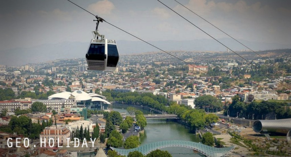 Georgia Tbilisi Cable car, Грузия Тбилиси Канатная дорога