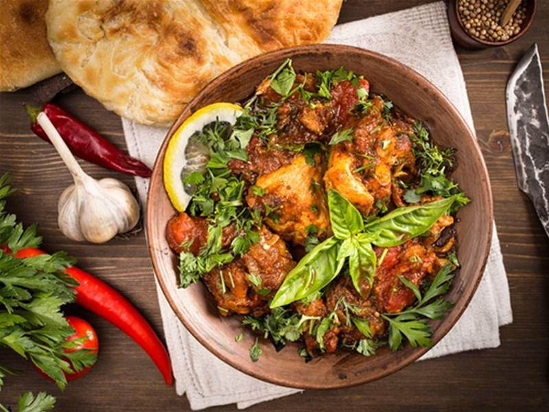 Грузинская кухня, блюдо - Чахотбили из баранины