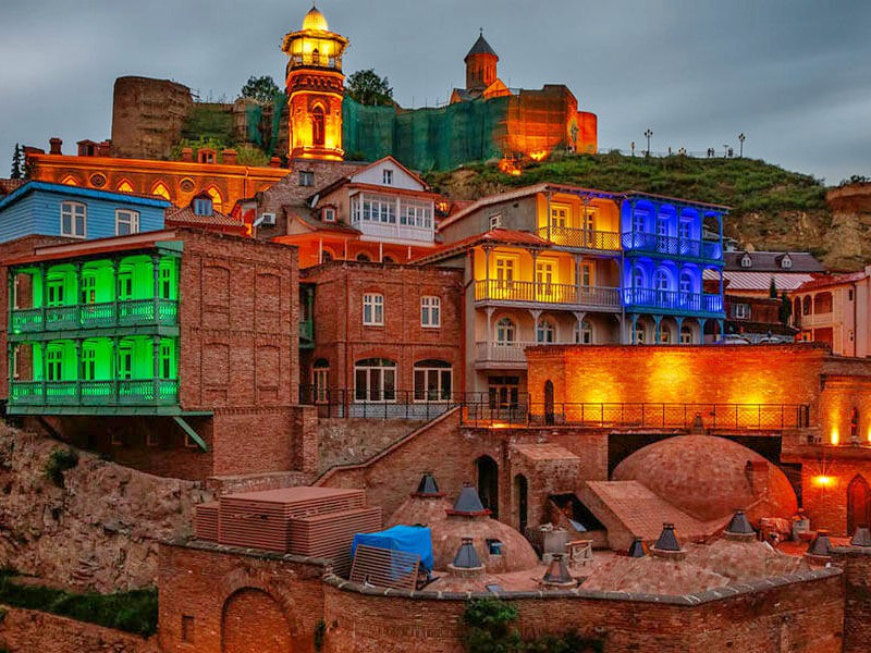 картинка города Грузии - Тбилиси, image of Georgian city- Tbilisi