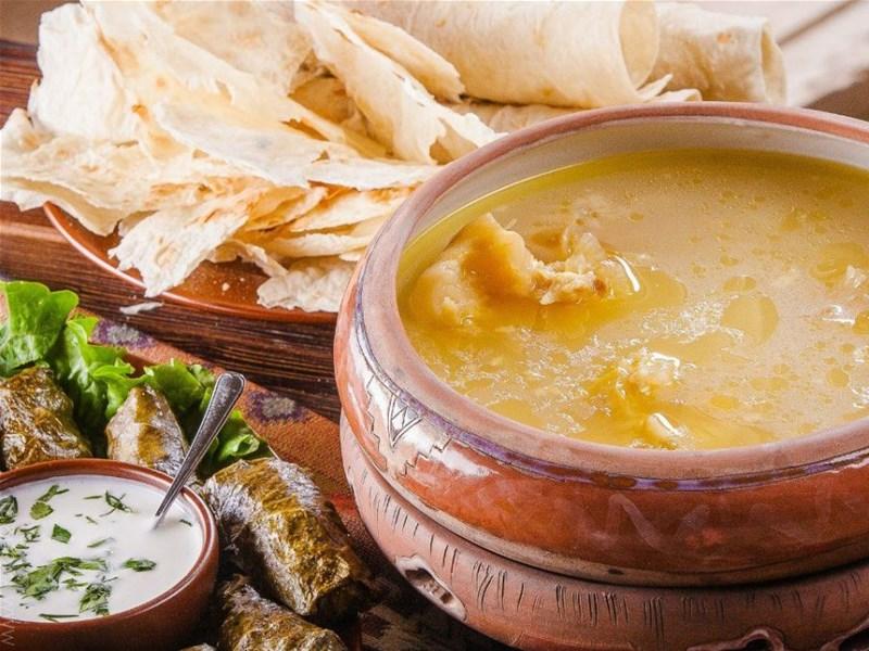 Грузинская кухня, блюдо - Хаши по Тбилиский