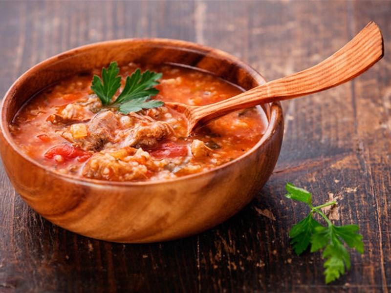 Грузинская кухня, блюдо - Суп-харчо