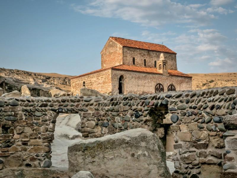 Тур в пещерный грузинский город - Уплисцихе, вид на Манастырь