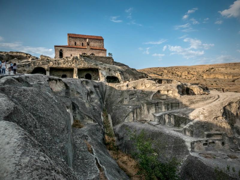 Уплисцихе, вид на пещеру